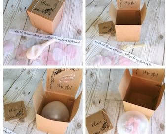 Pop Balloon Kit, Personalised Pop Balloon, Bridesmaid Gift, Will you be my Bridesmaid Box, Wedding Gift, Pop the Balloon Kit, Flower Girl
