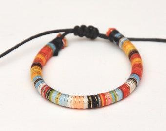 Colorful bright bracelet summer jewelry cord bracelet orange simple cotton bracelet Best friend gift for girlfriend bohemian bracelet women