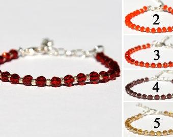 Red bracelet Beaded bracelet bohemian crystals bracelet Bohemian bracelet Statement bracelet Gift for wife womens gift PrettyCrochetForYou
