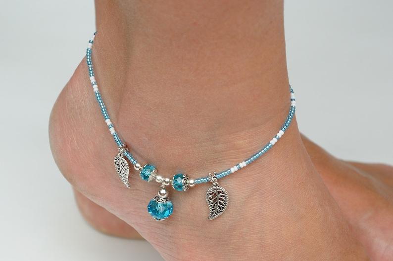 Bead jewelry womens gift Anniversary Giftforher Womens Ankle image 1