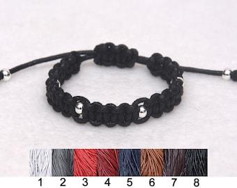 chunky cord bracelet Wide wax cord bracelet thread macrame bracelet Black Surf bracelet for mens bracelet simple jewelry for boyfriend gift