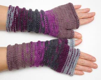 Long Knit Fingerless gloves Clothing Accessories Gloves Mittens Winter Gloves Arm Warmers Women gift ideas fingerless mitten Girlfriend Gift