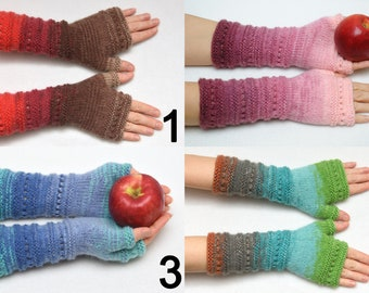 Knit Fingerless gloves Mittens Arm Warmers Wife Gift for Her gift for women Winter Womens gift ideas Friend gift for mom PrettyCrochetForYou