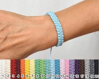 20 colors wide wax cord bracelet thread macrame bracelet Black bracelet Surf bracelet for mens bracelet simple jewelry for boyfriend gift