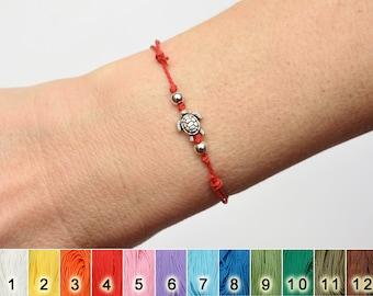 sea turtle bracelet waterproof bracelet woven braided knotted bracelet string adjustable wax cord bracelet cute animal bracelet travel gifts