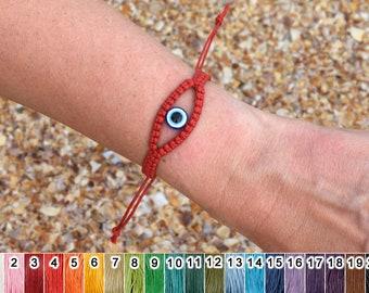 thread bracelet macrame bracelet  bracelet wax cord bracelet protection evil eye bracelet for mens bracelet simple bracelet boyfriend gift