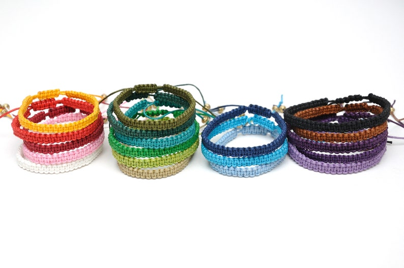19 colors thread bracelet macrame bracelet Black bracelet wax image 0