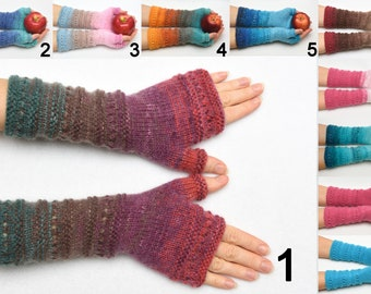 wife gift Fingerless Gloves womens gift Clothing Gift ideas for wives gift for her Knit Winter Gloves Mittens Arm Warmers Wrist Warmers