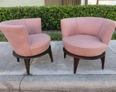 Pair Of Adrian Pearsall Style Modern Lounge Chairs