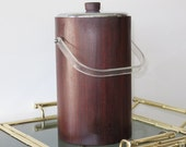 Mid Century Modern Ice Bucket With Glass Liner By Thermos