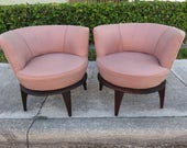 Vintage Pair Of Adrian Pearsall Style Modern Lounge Chairs