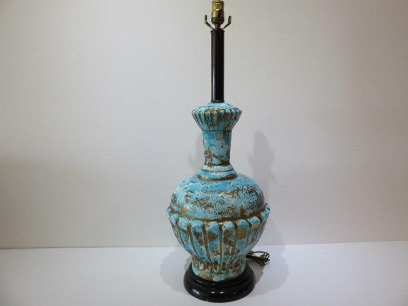 Moderne Lampen 67 : Vintage türkis glasiert mitte des jahrhunderts moderne lampe etsy