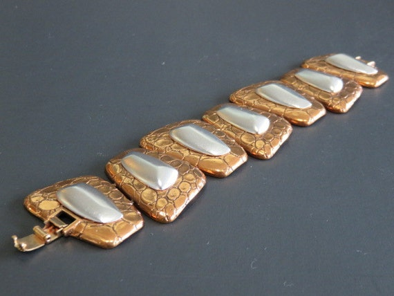 Signed Monet Vintage Mid Century Modern Bracelet