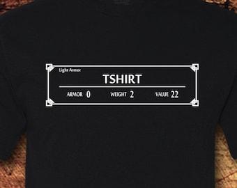d57bcefdca Light Armor Tshirt, Gamer Shirt, Gamer, Video Games, RPG Shirt, RPG, Role  Play, Free World, Geeky, Nerdy, TShirt, Shirt, Tee