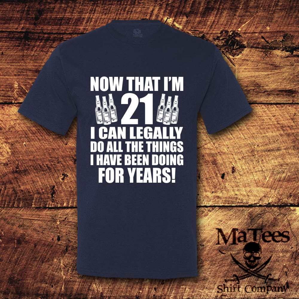 21st Birthday Gift For Him Her Shirt Turning 21 T Tee
