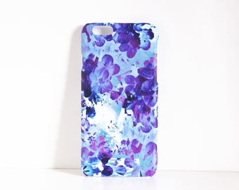 Purple iPhone 6 case, Letterbox Gifts for Mum, iPhone 5 case, Flowery Abstract, 5s 6s Phone Case, Floral Petal Print, Flat Gift ideas