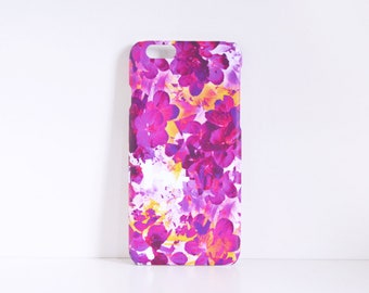 Pink Floral iPhone 6 case, iPhone 5 case, Flower Phone Case, Pink Phone Case, Pretty iPhone Case
