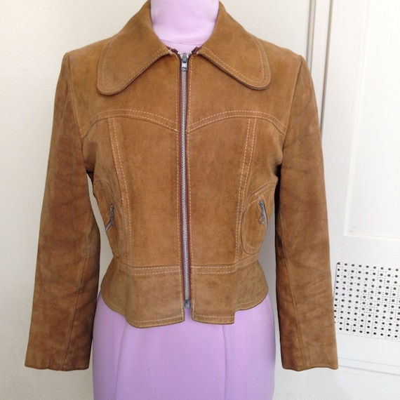 1960s/70s Tan Suede Jacket