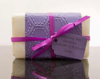 Handmade Lavender & Beeswax Soap 100 g