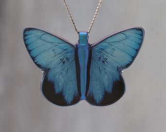 Blue Morpho - Pendant made with photo of a Butterfly's wing