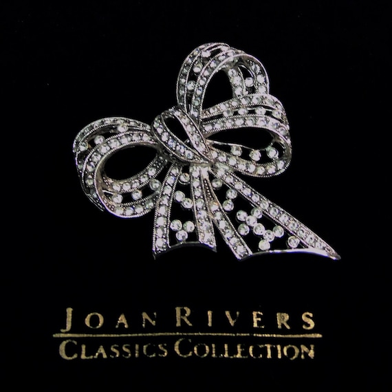 Vintage Joan Rivers Joan Rivers Silver Gift BOW BR