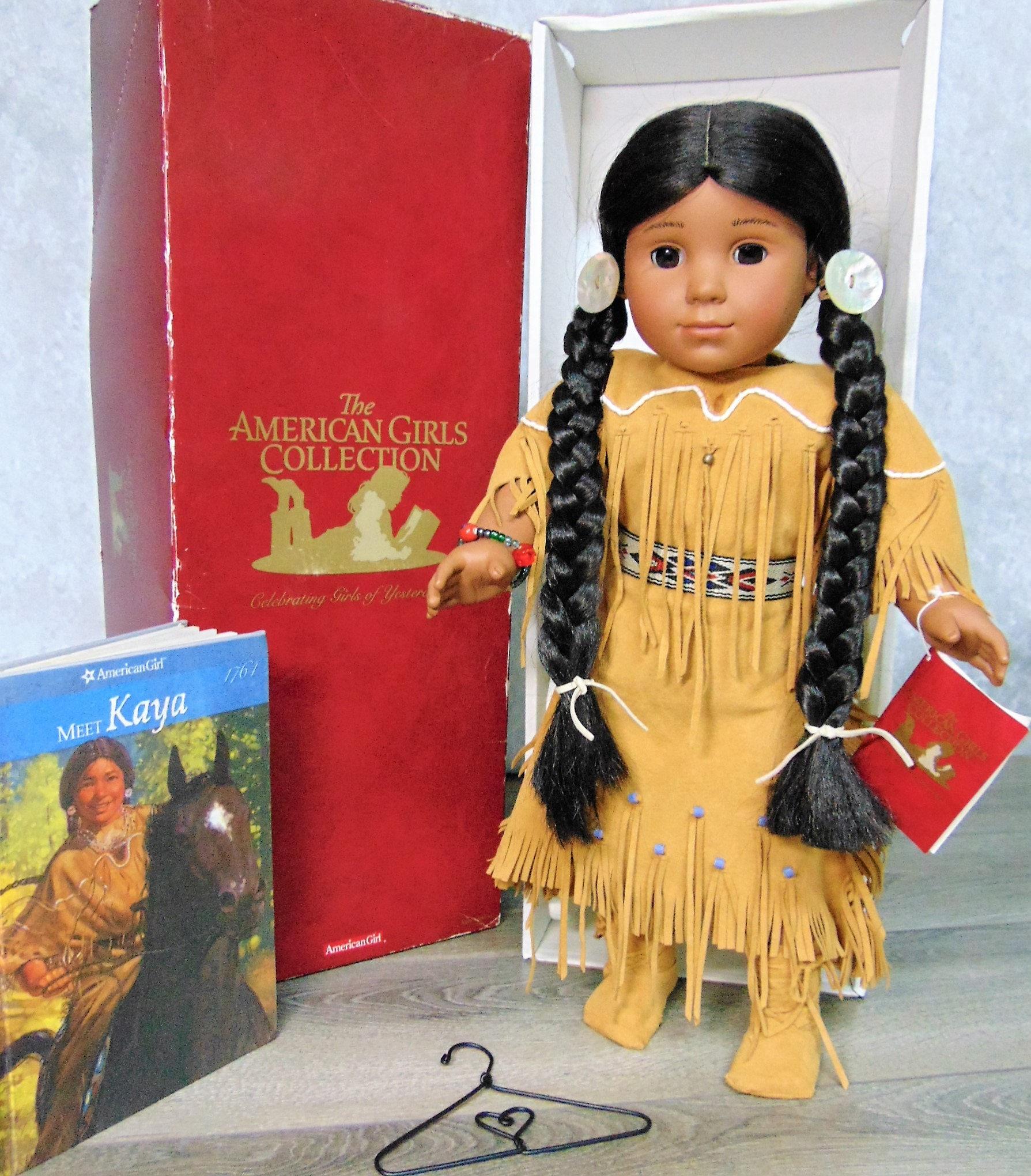 "American Girl Beforever Kaya Doll 18/"" /& Book New in Box"