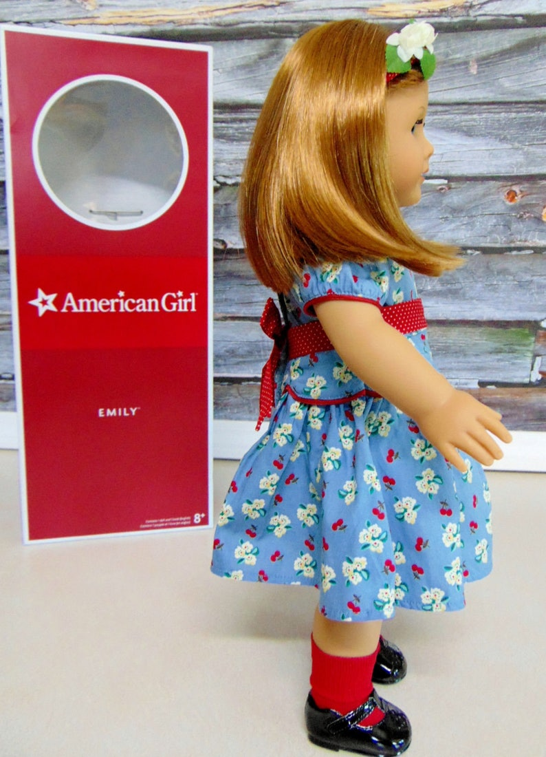 """American Girl 18/"""" Doll Emily Retired Meet Outfit Red Socks ONLY"""