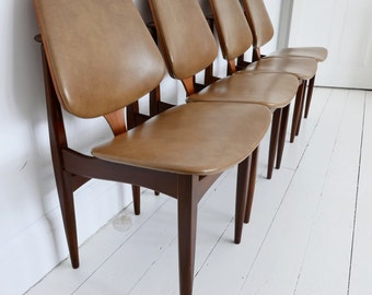 Awesome Dining Chairs Vintage Etsy Uk Andrewgaddart Wooden Chair Designs For Living Room Andrewgaddartcom