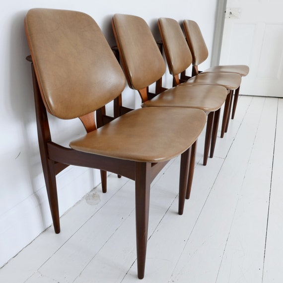 Awe Inspiring Sold Elliotts Of Newbury Eon Mid Century Modern Teak Dining Chairs Pabps2019 Chair Design Images Pabps2019Com