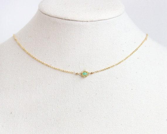 f03c857548940 Emerald Choker Necklace - Natural Emerald Necklace, May Birthstone,  Birthstone Choker, Dainty Choker Necklace, Dainty Emerald Necklace