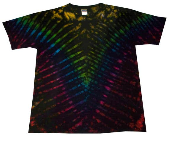 Hand dyed in the UK Tie dye T Shirt corner rasta all sizes