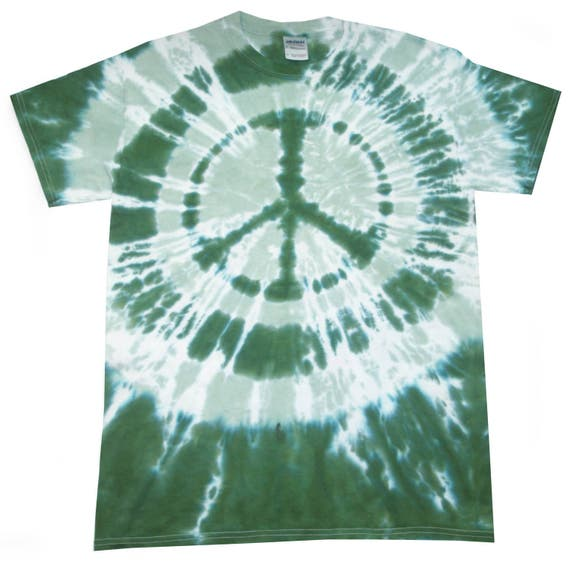 T Shirt Tie Dye C.N.D Peace multi colour hand crafted in the UK All Sizes