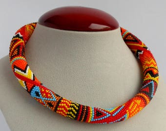 d957ee56a5e7df African jewelry Ethnic african beaded necklace for women boho jewelry gift  for women african beads women's african beaded necklace