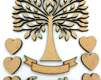 Family Tree Kit with Hearts, Word and Banner