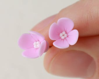 Lilac stud Earrings Pink lilac earrings Syringa earryngs Lilac jewelry Lilac flower stud  Flower jewelry Lilac jewelry Pink lilac gift