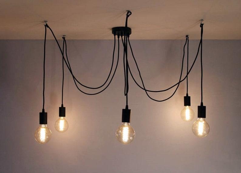 Multi pendente luce octopus lampadario 3 5 luci industriale etsy