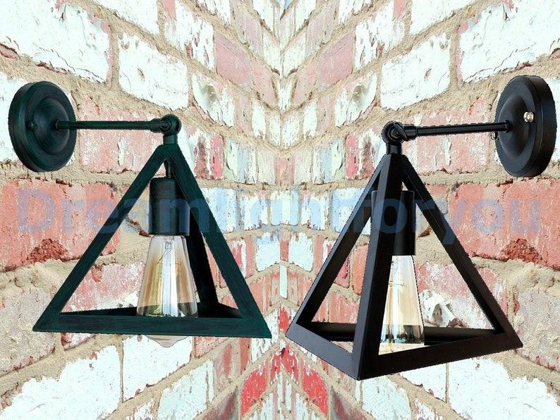 Illuminazione industriale applique parete industriale luce etsy