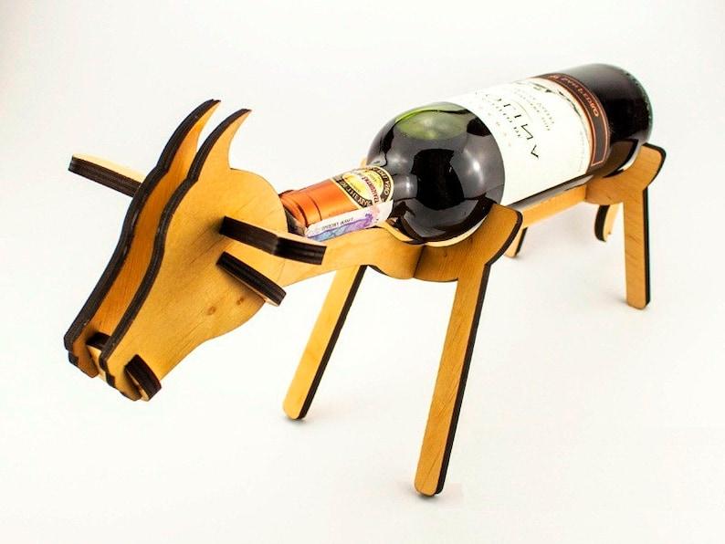 Porte bouteille de vin en forme de vache vin porte Wine rack   Etsy