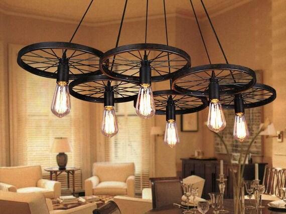 Ruote ciondolo luce industriale luce per illuminazione luce etsy