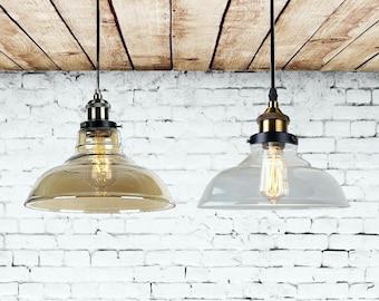 etsy lighting pendants. Glass Pendant Light Clean And Amber Lighting Dinning Island Kitchen Chandelier Etsy Pendants