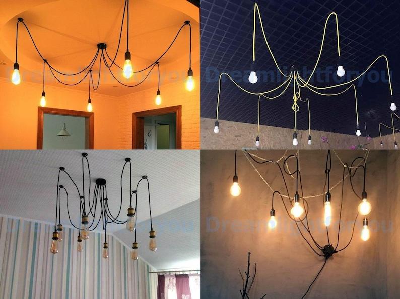 Spider lampadario ciondolo luce industriale