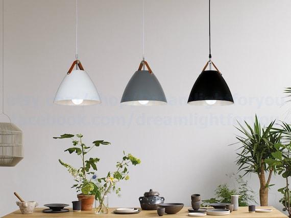 Black White Kitchen Light Pendant Lighting Hanging Lamp Etsy