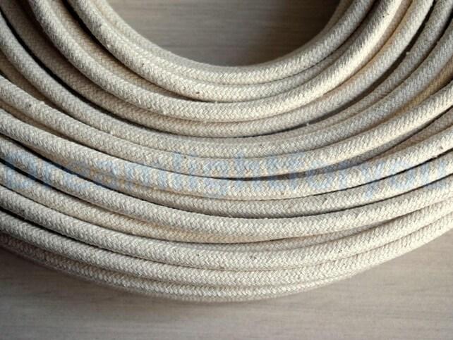 Baumwolle Textile Kabel 1-25m 3-80ft Stoff bedeckt Draht | Etsy