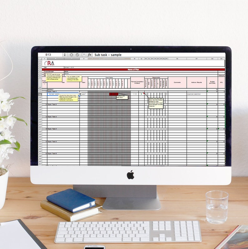 Master PROJECT MANAGEMENT Excel Template  instant download image 0