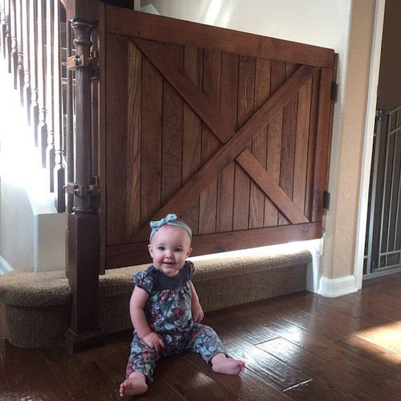 Pet GateSafety Baby Gate Stair Gate Barn Door Style Gate | Etsy