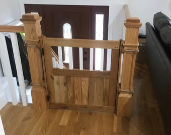 Custom Baby Gate with White Spindles