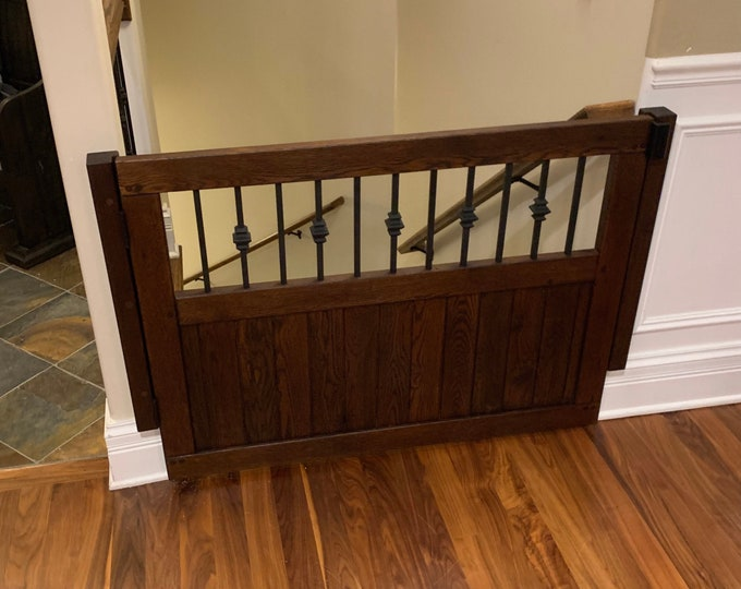 Wood and Metal Baby or Pet Gate