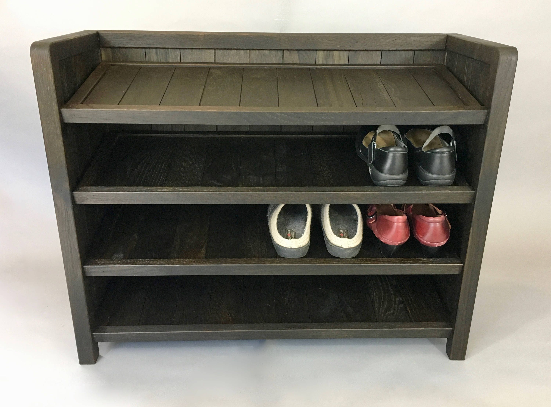 Shoe Rack, Wooden Shoe Rack, Made With Reclaimed Oak, Shoe Storage, Entryway  Storage