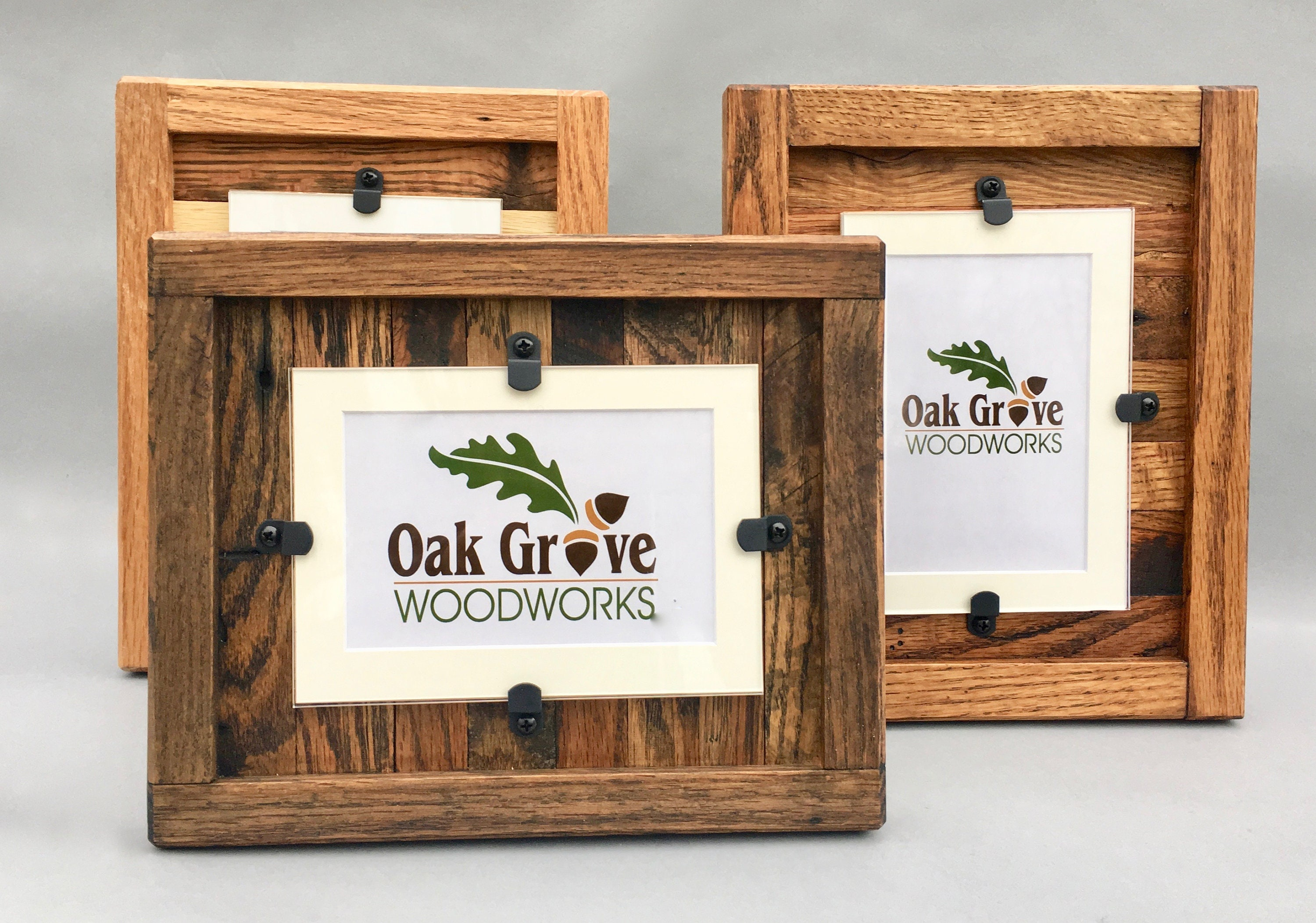 Reclaimed Wood Frames, Rustic Wood Frames, Set Of 2, 5 X 7 Picture Frame  With Mat, 8 X 10 Picture Frame Without Mat, Free Shipping!