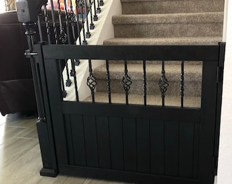 Baby or Pet Gate with Wood and Metal